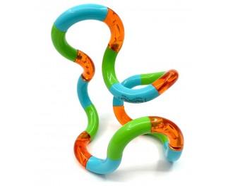 Tangle Grote tangle oranje-groen-blauw