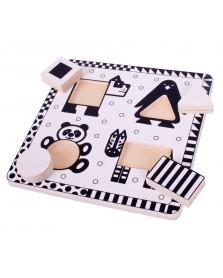 bigjigs Grote stukken zwart/wit panda