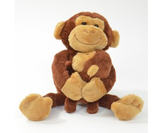 Recorder knuffel aap met baby