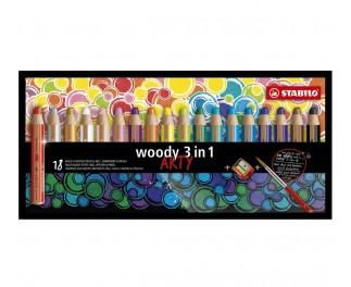 Stabilo Woody art 18 stuks incl slijper