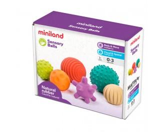 miniland Rubber ballen 6 Stück