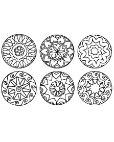 JToys Mandala fantasie contourstempels 6 stuks