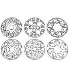 JToys Mandala dieren contourstempels 6 stuks