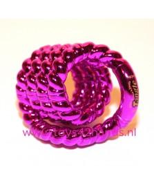 Tangle Junior structuur metallic roze