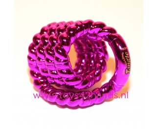Tangle Structuur metallic roze