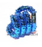 Tangle Structuur metallic blauw