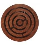 Holzlabyrinth rund