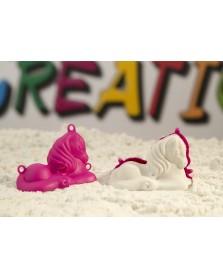 Sandcreation, 3D figuren, 4 kleine