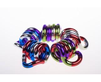 Tangle Driekleurig metallic junior rood-paars-groen op=op