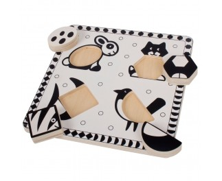 bigjigs Zwart-wit puzzle poes
