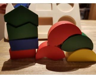 Grote stukken geometrische vormen
