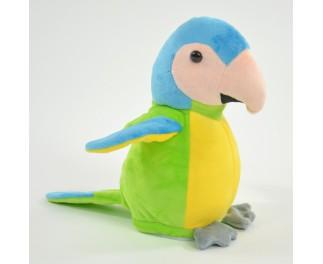 Knuffel recorder groene papegaai
